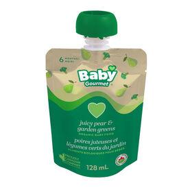 Baby Gourmet Poires juteuses et l gumes verts du jardin.