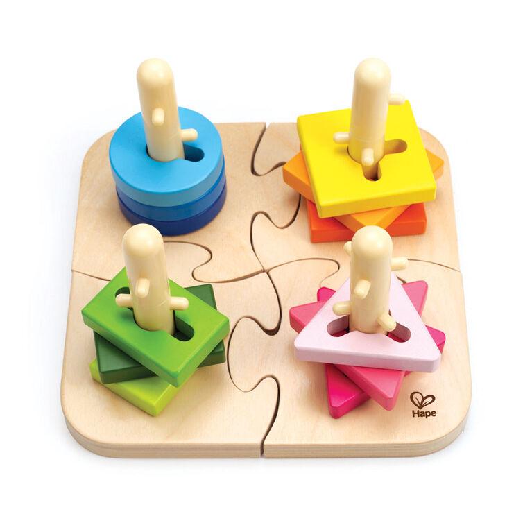 Hape Creative Peg Puzzle - English Edition
