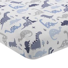 Originaux de l'heure du lit – Drap-housse ajusté Rugissement – Bleu.