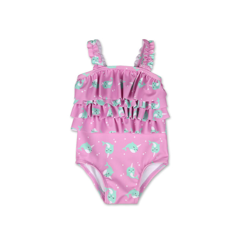 Koala Baby 1Pc Swimsuit Purple Narwhal Print, 6-9 Months