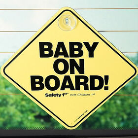 Safety 1st Baby On Board Sign - English