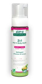 Aleva Naturals 2 en 1 Nettoyant Cheveux et Corps.