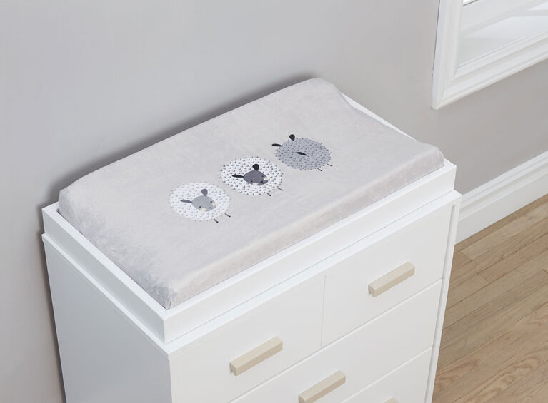 Housse pour coussin de table a langer de Just Born Counting Sheep Collection™