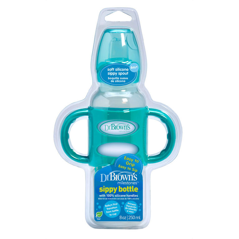 Dr. Brown's Milestones Sippy Bottle with Handles 8 oz