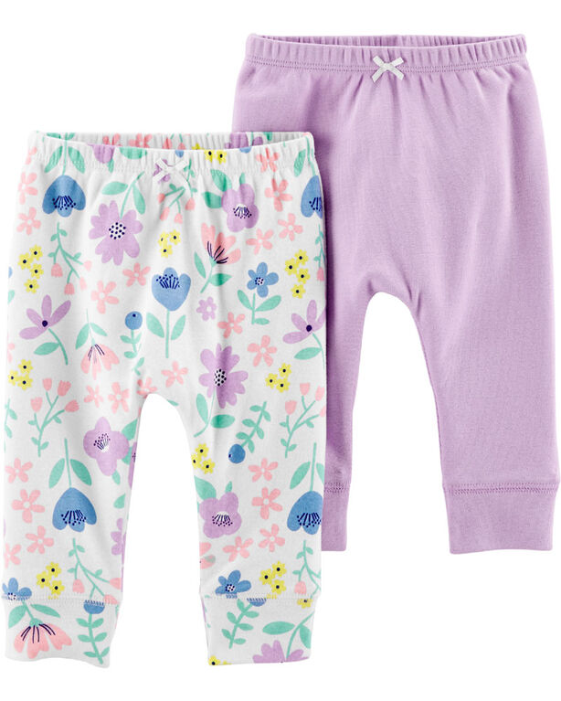 Carter's 2-Pack Pull-On Pants - Purple, 6 Months