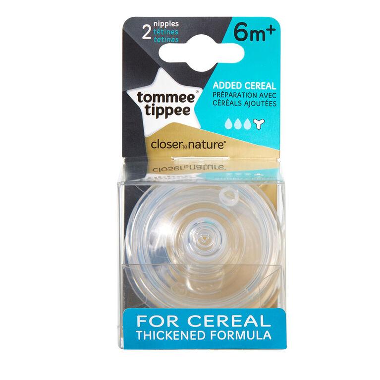 Tétine pour préparation avec céréales Closer To Nature par Tommee Tippee.