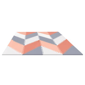 Skip Hop Geo Playspot Foam Floor Tiles, Grey/Peach