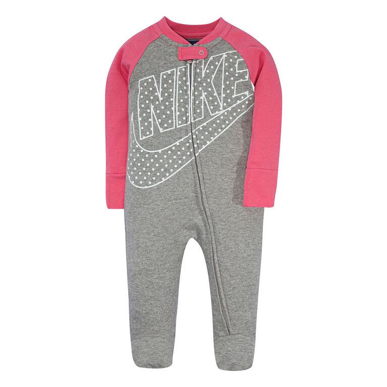 Nike Combinaison avec pieds - Rose, 6 mois