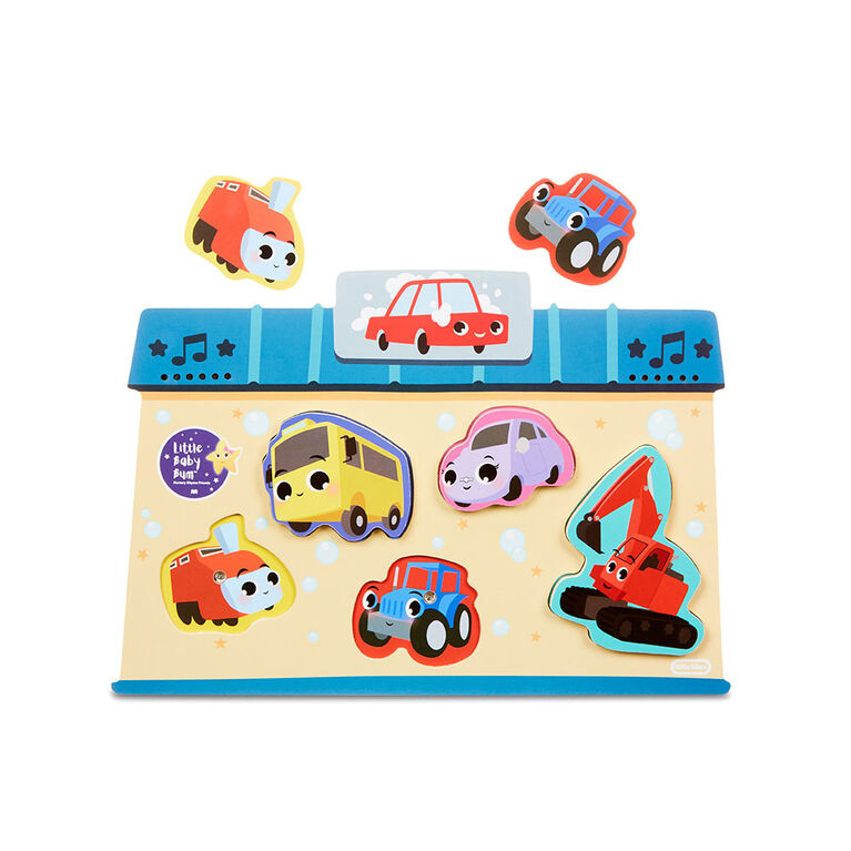 Little Baby Bum 5-Piece Chunky Wooden Sound Puzzle Plays Wheels on the Bus - English Edition