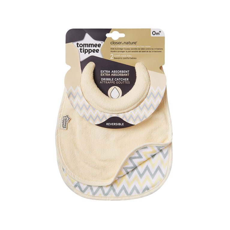 Bavoir d'allaitement Comfi-Neck Closer to Nature de Tommee Tippee, paq. de 2.