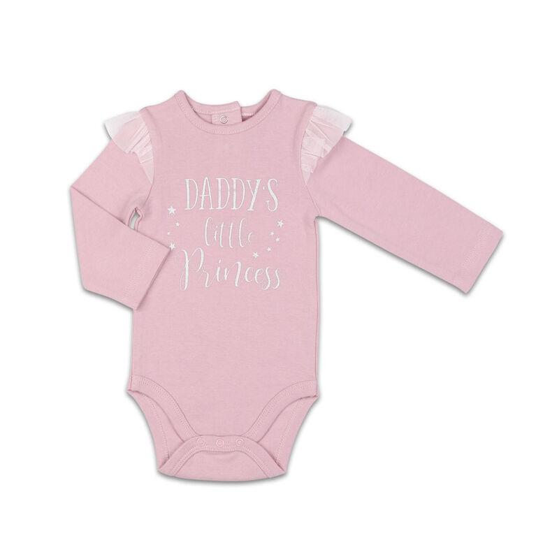 Combinaison The Peanutshell Daddy's Little Princess interchangeable à épaules à volants, layette pour bébé fille - 6-9 Mois