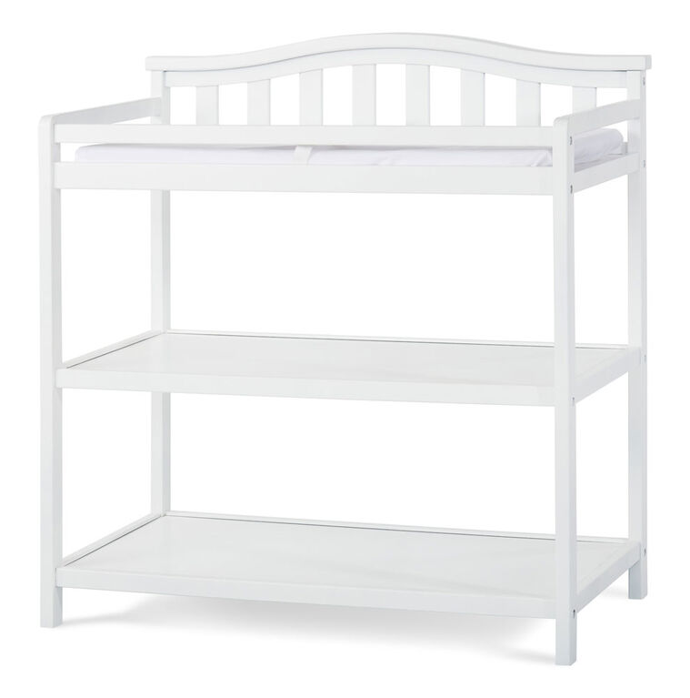 Forever Eclectic by Child Craft Wilmington/Camden Arch Top Changing Table, Matte White