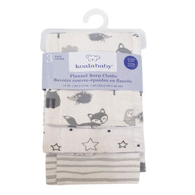 Koala Baby - Grey 3 Pack Burp Flannel