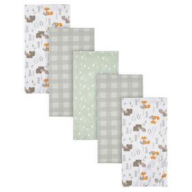 Paquet de 5 couvertures de flanelle pour bébé de Gerber - Renard des bois