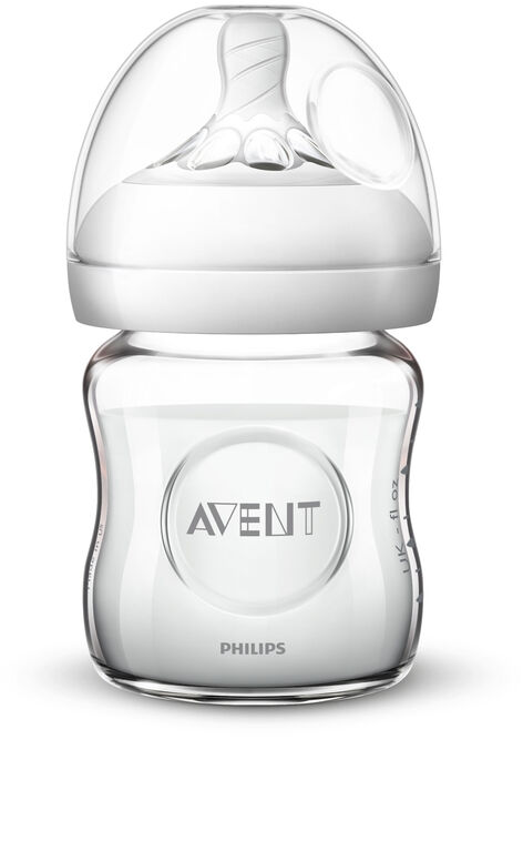 Biberon Philips Avent Naturel en verre, 4 oz, emb. de 1.