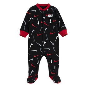 Nike footed Coverall - Black, 3 Months