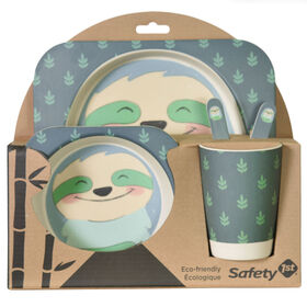 Safety 1St Bamboo Feeding Gift Set-Sloth