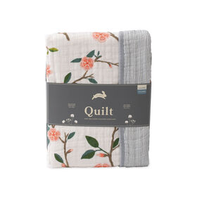 Red Rover - Cotton Muslin Quilt - Peach Blossom - R Exclusive