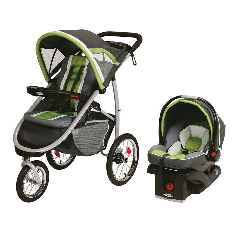 Graco FastAction Fold Jogger Travel System with SnugRide Click Connect 35 Infant Car Seat - Piazza