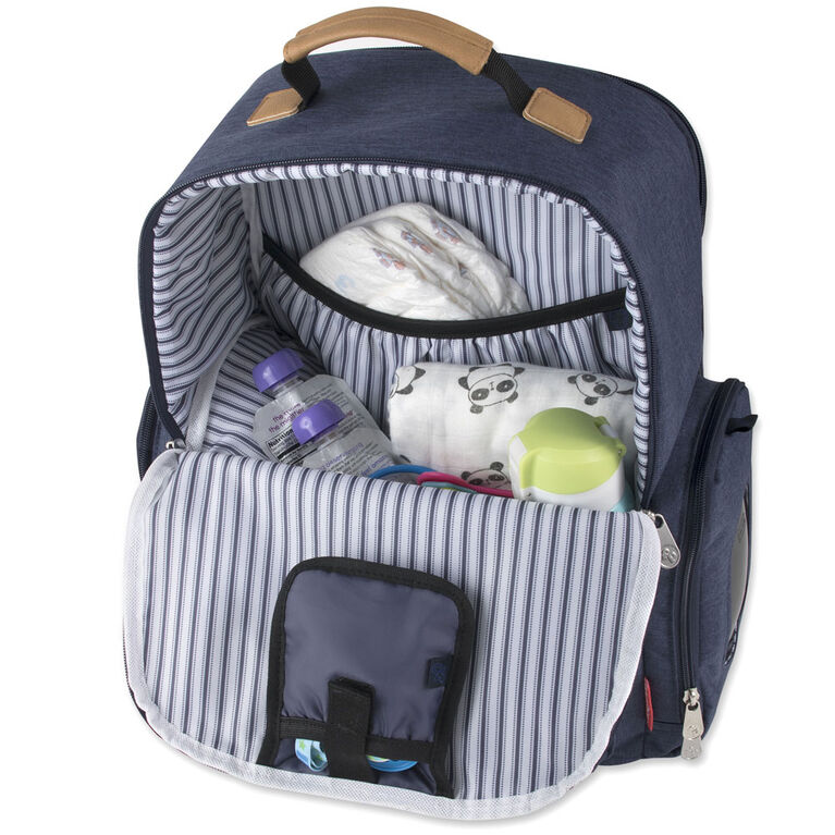 Fisher-Price River Backpack Diaper Bag - Old World Navy