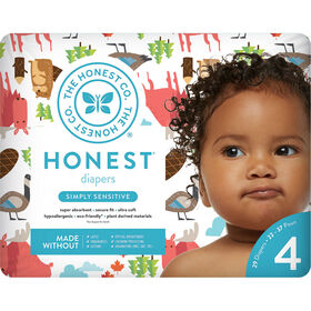 Honest Diapers Size 4-Ca National Print