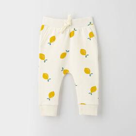 drop-crotch cozy sweats, 6-9m - white