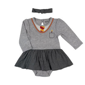 Harry Potter Tutu dress with headband - Grey, Newborn.