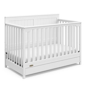 Graco Hadley 4-in-1 Convertible Crib with Drawer - White.