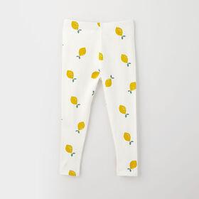 organic play legging, 6-9m - white lemon