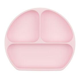 Bumkins Silicone Grip Dish, BPA Free - Pink