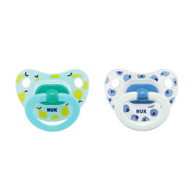 NUK Orthodontic Pacifiers, 6-18 Months, 2-Pack
