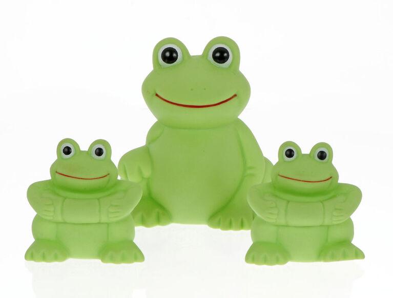 Famille de grenouilles Play 'n' Splash de Vital Baby - 3 pièces