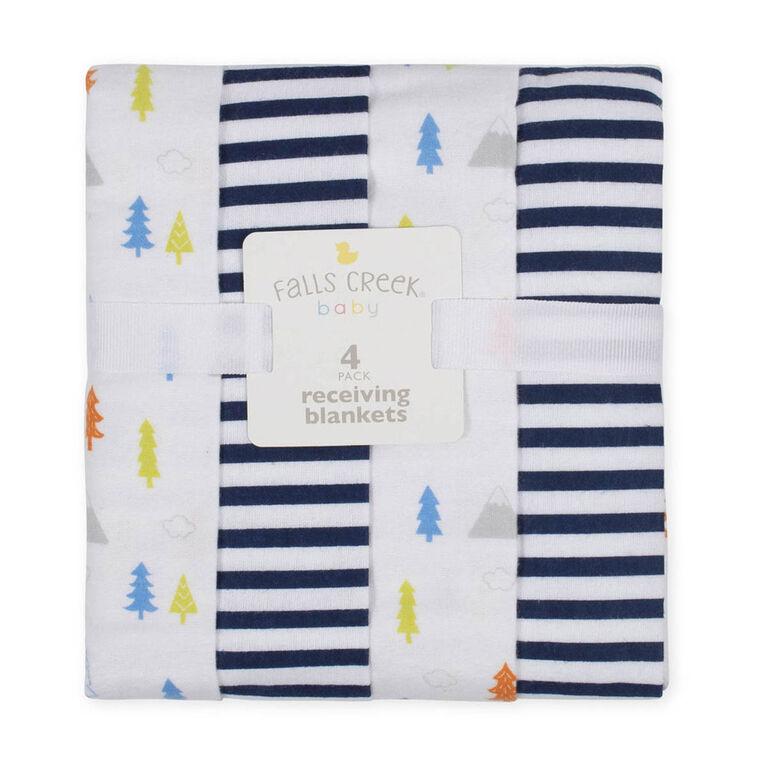 Emballage de 4 couvertures de flanelle de Falls Creek  - arbres - Édition anglaise