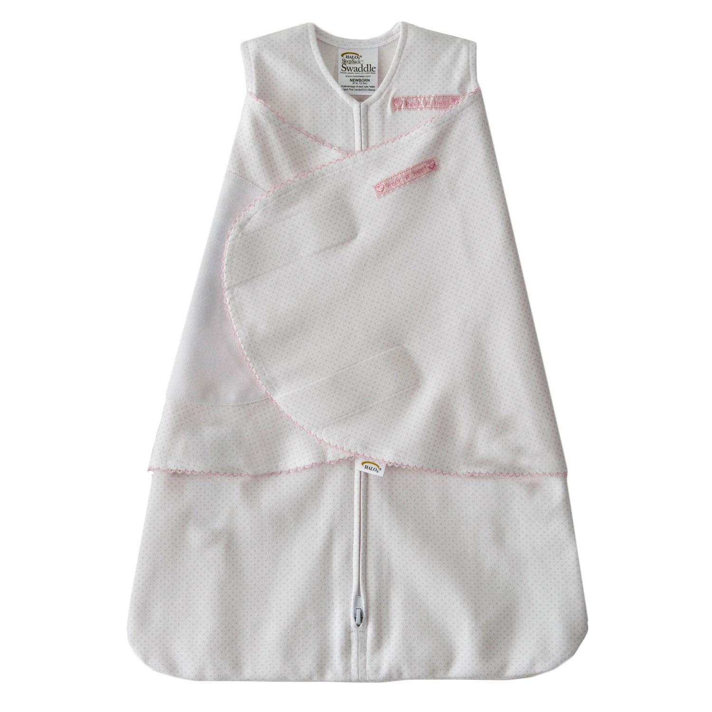 Halo Sleepsack Swaddle Cotton Pink Pin Dot Newborn