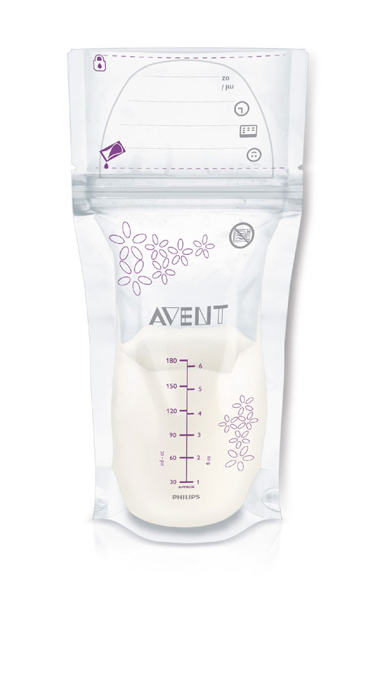 Philips Avent Breast Milk Storage Bags 50 Count 6oz 180ml