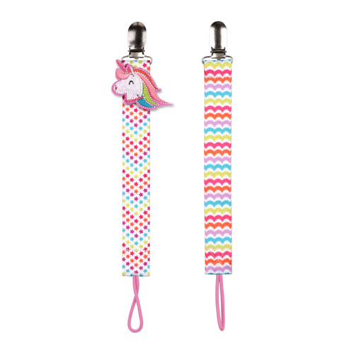 No Throw 2 Pack Pacifier Holder Unicorn Babies R Us Canada
