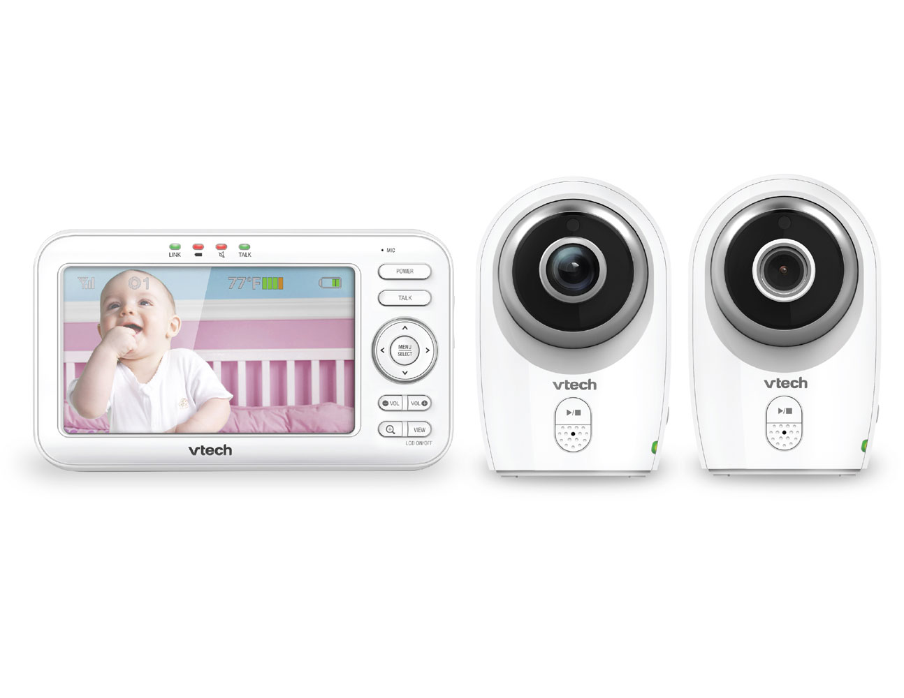 Vtech Vm351 2 2 Camera Full Colour Video Monitor With