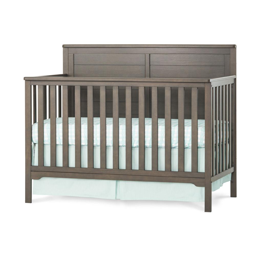 Wilmington Flat Top 4 In 1 Convertible Crib Dapper Gray
