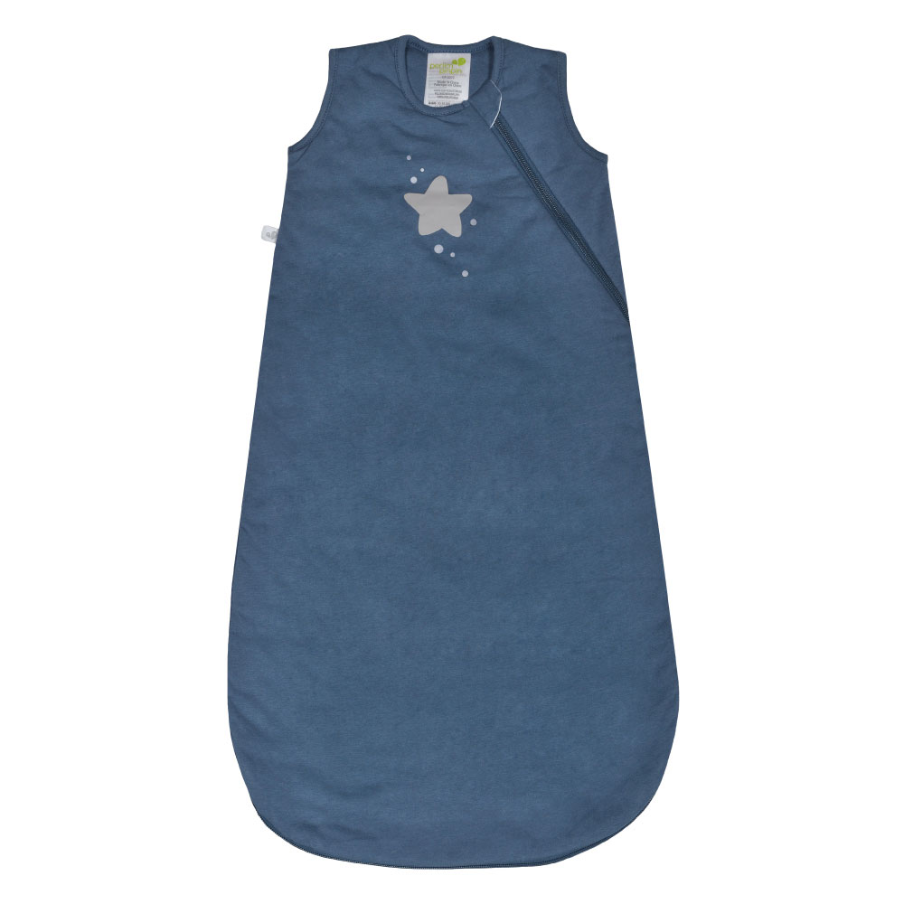 Perlimpinpin Quilted Cotton Sleep Bag Blue Star 0 6