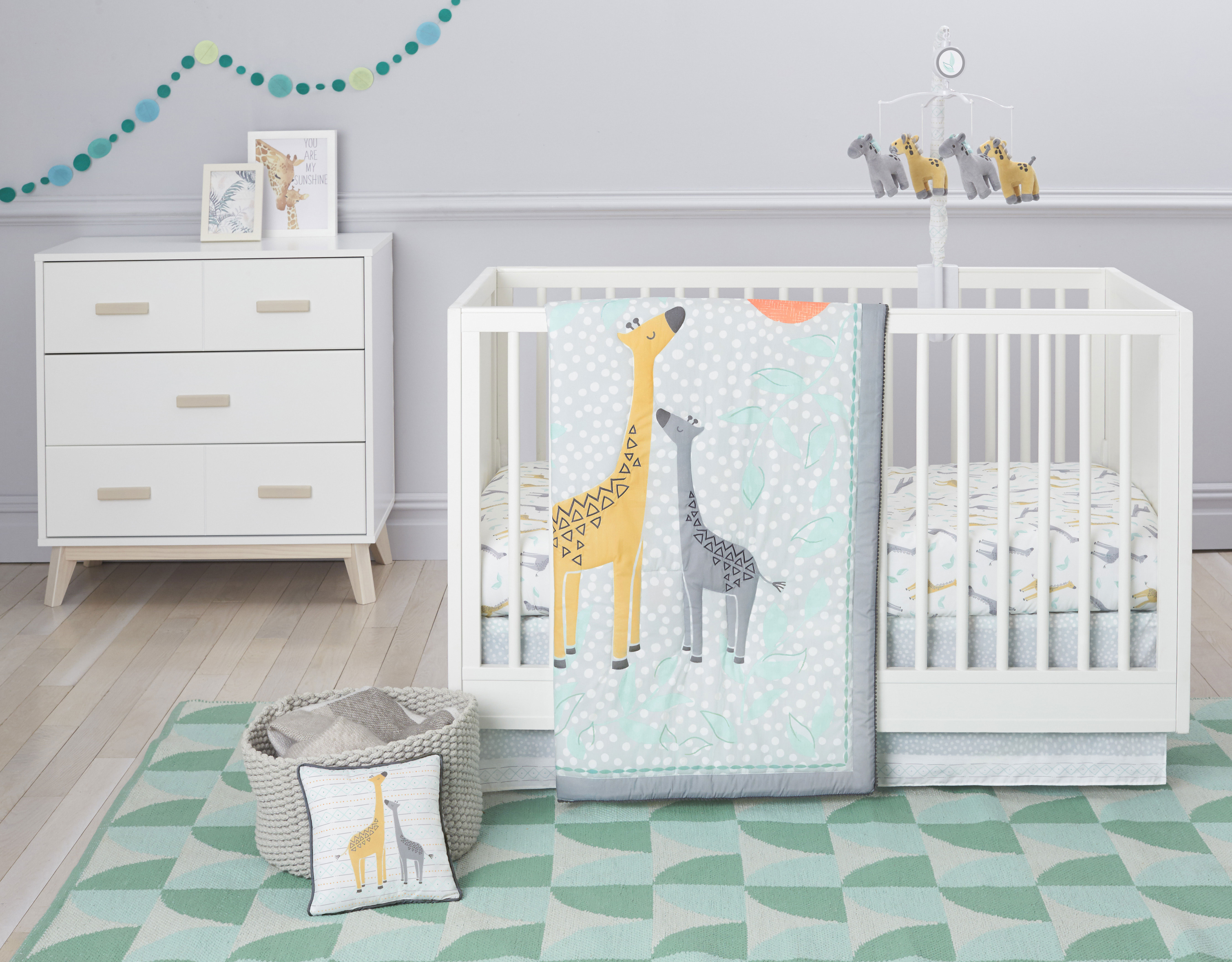 Just Born Just The Two Of Us Collection 5 Piece Crib Set